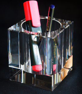 Glass template - Pencil stand