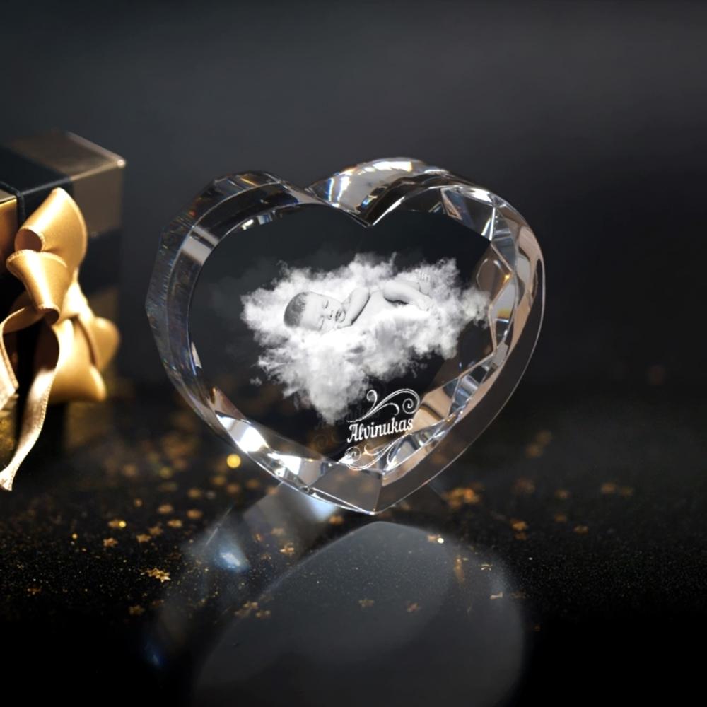 Stiklo Ruošinys - Širdelė