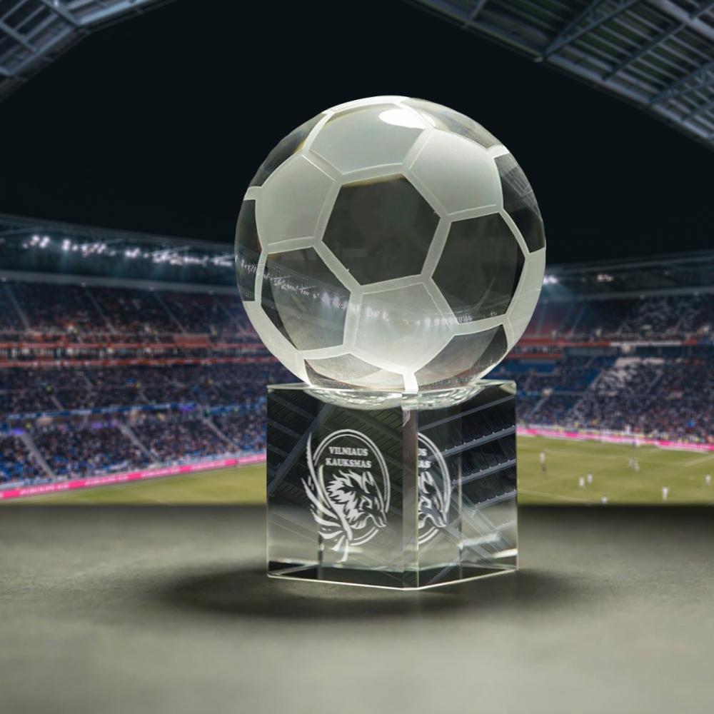 Stiklo gaminys - Stovas futbolas