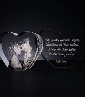 Glass template - Heart